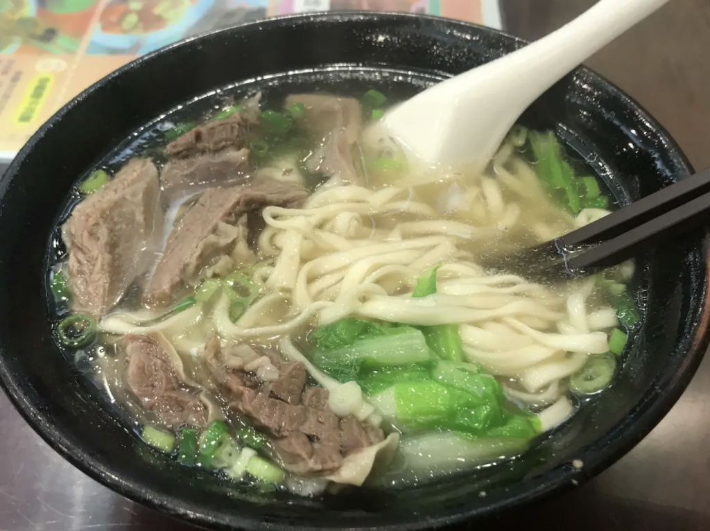 Clear broth beef noodle soup Taiwan