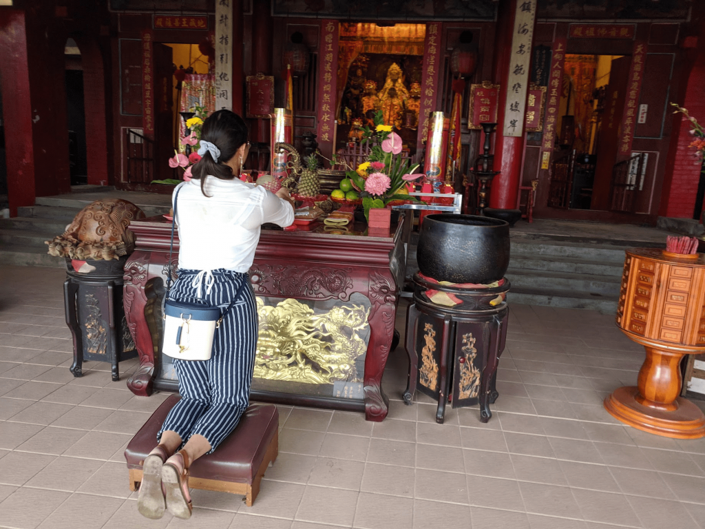 Shenkeng Old Street stone mazu shrine and temple.